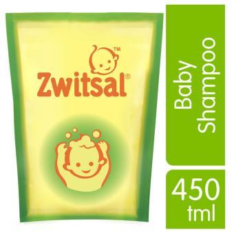 Zwitsal Baby Shampoo Natural Aloe Vera Pouch 450ml