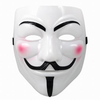 Halloween Cool Masks V For Vendetta Anonymous Movie Guy Fawkes Vendetta Mask Cosplay Costume. Topeng Anonymus Putih Isi 10 Pcs