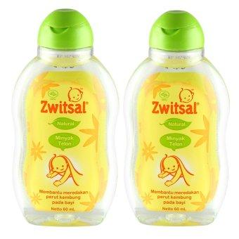 Zwitsal Baby Natural Minyak Telon 60ml - 2Pcs