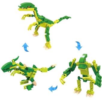 harga Cogo Dino Raptor 3 in 1 3008-2 Mini - Mainan Edukasi Block Dinosaurus Raptor Lazada.co.id