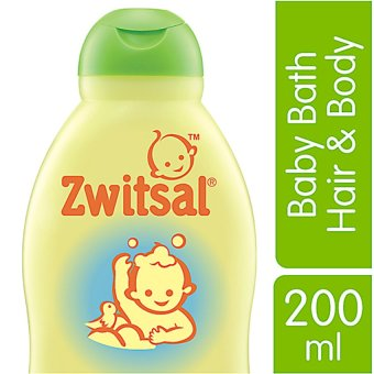 Zwitsal Baby Bath Natural 2In1 Hair & Body - 200mL