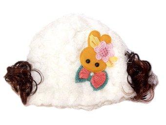 Win Win – Topi Bayi Crochet Rabbit Bow – Putih