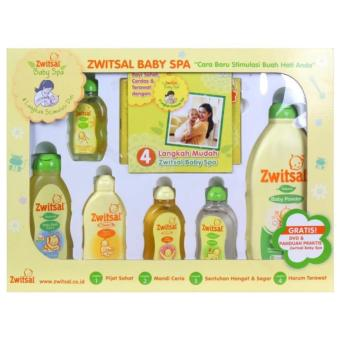 Zwitsal Baby Spa Gift Box Isi Sampo Bedak Cologne Minyak Telon Sabun Baby Oil - - Cocok Buat Kado Lahiran / New Born
