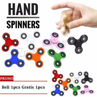 Lucky - Fidget Spinner Hand Toys Focus Games / Mainan Spinner Tangan Penghilang Kebiasan Buruk - Random Colour - Buy 1 Get 1 Free - 2Pcs