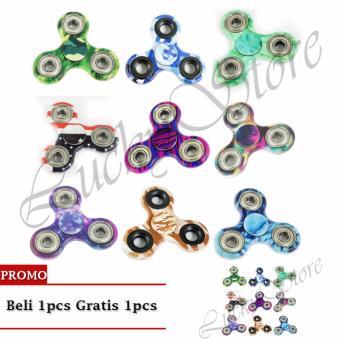 Lucky - Fidget Spinner Hand Spinner Hand Toys Focus Games MOTIF Mainan Spinner Tangan Penghilang Kebiasan