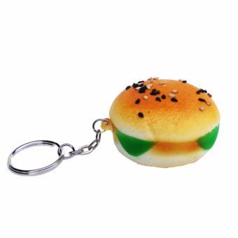 Simply Chic Squishy Gantungan Kunci Roti Squishy Simulation Hamburger Slow Rising Squishy Fun Toys Key Chain