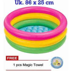 Intex 58924 Kolam Renang Mandi Anak uk. 86 x 25 cm GRATIS Magic Towel
