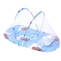 Kasur Bayi Kelambu Jaring Nyamuk Baby Mosquito Net With Pillow Cocok Hadiah Kado Baby Lahiran(Pink)