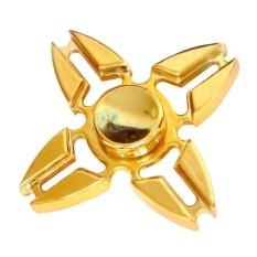 Kokakaa Fidget Hand Spinner Premium Chrome Gold Shuriken 4 Bintang Mainan Anti Stress
