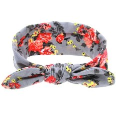 ... LALANG Baby Kids Bow Floral Flowers Headband Children Turban Knot Rabbit Ears Hair Band Head Wrap