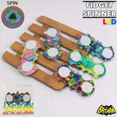 Lucky Fidget Hand Spinner Batm4n Kelelawar Motif With Led Toys Focus Games Mainan .