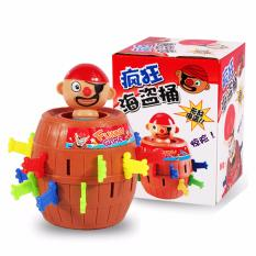 Mainan Anak - Crazy Pirate Roulette Game Lucky Barrel - 1 Pcs