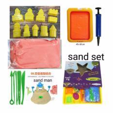Mainan Anak Pasir Ajaib Set 7 in 1 - Pasir Pilih Warna -