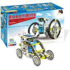 mainan edukasi anak - 14 in 1 Transforming Solar Robot Science & Education DIY Toys Kids