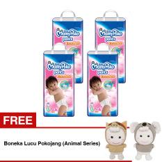 Mamypoko Popok Pants Extra Soft L 28 - Perempuan - Karton Isi 4 Gratis Boneka Lucu Pokojang (Animal Series)