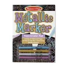 Melissa & Doug Metallic Marker Trace & Color Pad - intl
