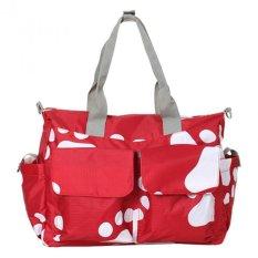 Merah mumi Tote tas botol tas Waterproof mengganti popok bayi Multi fungsi untuk Perempuan