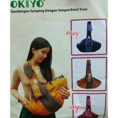 Mesh Okiyo Gendongan Bayi Samping Dengan Tempat Botol Susu - Okiyo Baby Carrier With Bottle