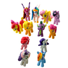 MINI Dolls 12Pcs My Little Pony Friendship Is Magic Cake Figure Kids Toy MLP