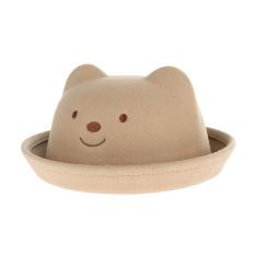 Musim Gugur Musim Dingin GEMVIE Topi Bayi Beruang Kartun Sempit Pinggir Topi Fedora Hat Anak Jazz (Dril)