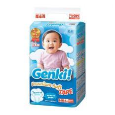 Nepia Genki NEW Premium Baby Diapers Soft - Tape M 64