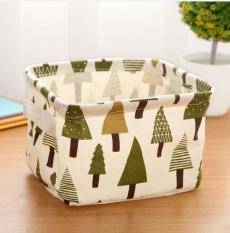 New Storage Basket Desktop Baskets Hand Box Finishing Baskets Cosmetic Case Jewelry Stationery Cute Decor Basket - Trees - intl