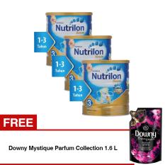 Nutrilon Royal Pronutra 3 Susu Pertumbuhan - Madu - 800gr Bundle 3 kaleng + Free Downy Mystique Parfum Collection 1.6 L
