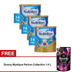 Nutrilon Royal Pronutra 4 Susu Pertumbuhan - Vanila - 800gr Bundle 3 kaleng + Free Downy Mystique Parfum Collection 1.6 L