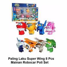 Paling Laku Super Wing 8 Pcs Mika Ages 3+ - Mainan Robocar Poli Set