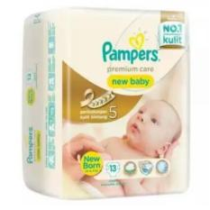 Pampers Popok Premium Care New Baby Tape - NB 13