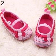 Phoenix B2C Toddler Infant Baby Girl Flower Shoes Crib Prewalker Newborn To 18 Months Babyshoes 13cm (Pink) - intl