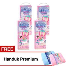 POKANA Popok Pants Super L 26 - Girls Karton Isi 4 Gratis handuk premium