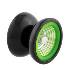 Professional YoYo Metal Ball Rotate Trick Gift Kid Child Toy Black & Green