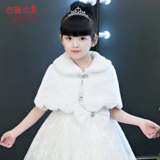 Qiudong putih bunga gadis selendang Gadis rompi anak-anak jubah