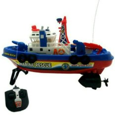 Random House Mainan Remot Control Kapal Fire Boat Light N Sound Multicolor