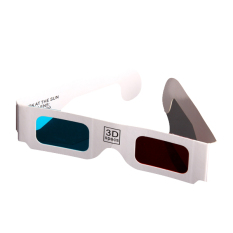 Generic Red-Cyan (Blue) Anaglyph 3 DimensionaL 3D Glasses (X 100)