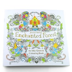 Relieve Stress For Children Adult Painting Drawing Book Enchanted Forest Kill Time Coloring