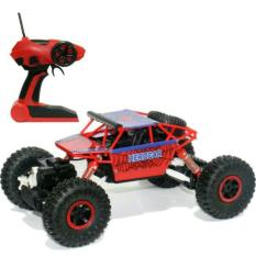 Remote Control Car 4WD Rock Crawler Super Hero Theme Car Off-Road - Merah