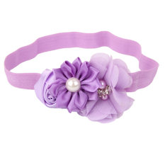 RIS  Light Purple Flower Baby Girls Headband Photography Props Hair Band