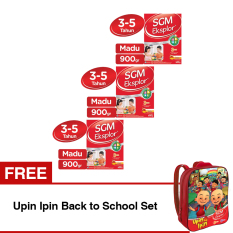 SGM Eksplor Presinutri 3+ Susu Pertumbuhan - Madu - 900gr - Bundle isi 3 Box FREE Upin Ipin Back to School Set