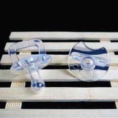 Silikon transparansi Bayi dot pemegang klip 0-3 tahun tua A2 bayi baru lahir lucu -