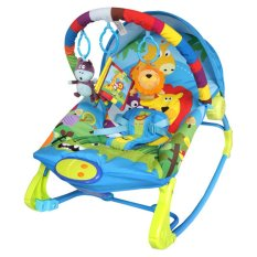 Sugar Baby 10 in 1 Premium Bouncer Rocker Rainbow Forest - Multicolour