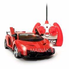 Super Racer RC Mobil Balap Skala 1/24 Pintu Buka Tutup dengan Remote - Merah