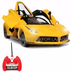 Super Racer RC Mobil Laferrari Skala 1/16 Pintu Buka Tutup dengan Remote Control - Kuning