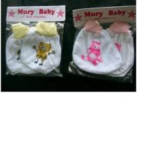 Tantan Sarung Tangan + Kaki Bayi Gambar Campur 6 Set