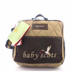 Tas Baby Diapers Kecil Multifungsi (Baby Scots) - Coklat