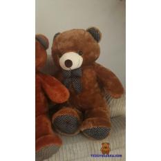 Teddy Bear - Boneka Teddy Bear (Beruang) Jumbo 1 Meter Polkadot Langka [Cream, Orange, Brown, Chocolate]