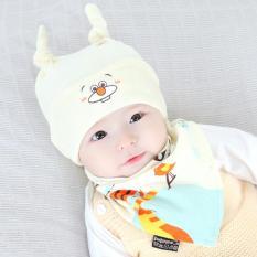 Topi Kupluk Bayi & Bib Set