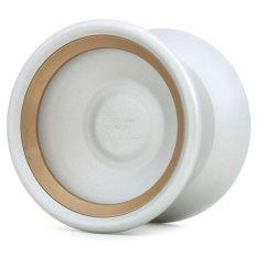 TopYo - [Q]uantum (Bi-Metal) - Abu-abu Putih dengan rim warna emas (beadblasted)
