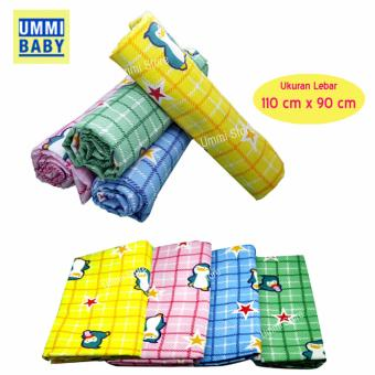 Ummi Baby Selimut Bedong Flanel - Size 110 cm x 90 cm - Isi 3